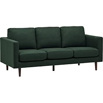 "Amazon Brand – Rivet Revolve Modern Upholstered Sofa Couch, 80""W, Heritage Green"