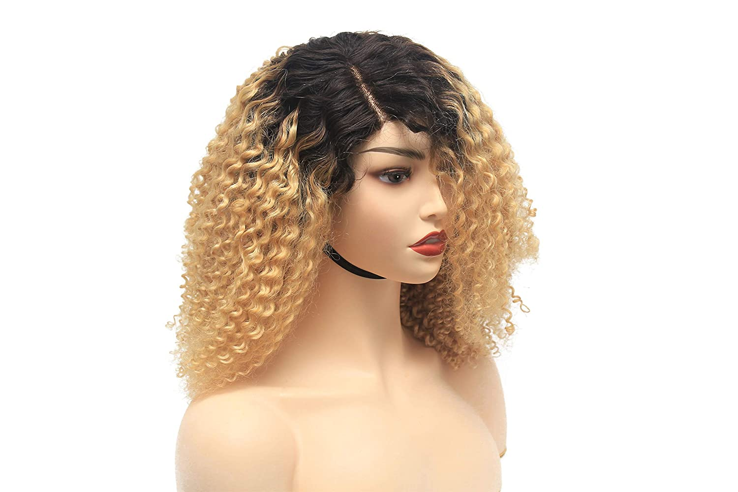 Curly Human Hair Wig - Direct store Ombre Wavy Glueless Blonde Lace Front Free shipping on posting reviews