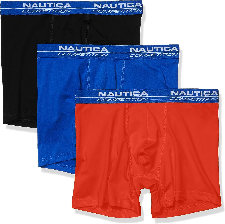 Nautica Men's Competition Comfort 3 Pack Boxer Brief