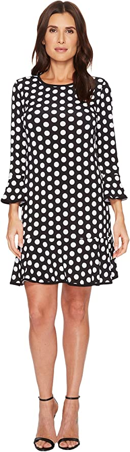 Simple Dot Flounce Dress