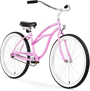 Firmstrong Urban Lady Single Speed Beach Cruiser Bicycle, 26-Inch, White