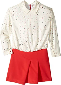Paul Smith Junior - Hearts Blouse w/ Fitted Bottom Dress (Big Kids)