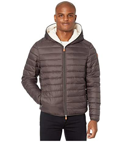 Save the Duck Giga 9 Hoodie Puffer Jacket with Sherpa Lining (Brown/Black) Men