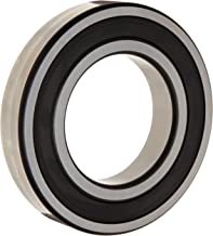 FAG 6305-2RSR Radial Bearing, Single Row, ABEC 1 Precision, Double Sealed, Steel Cage, Normal Clearance, Metric, 25mm ID, 62mm OD, 17mm Width, 7500rpm Maximum Rotational Speed, 5000lbf Dynamic Load Capacity