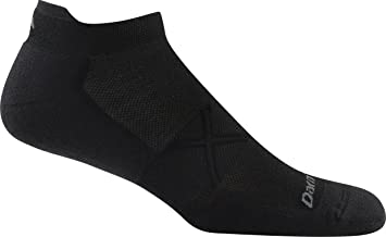 product image for Darn Tough Vertex No Show Tab Ultralight Cushion Sock - Men's Black Medium
