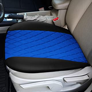 FH Group Blue FB210BLUE102 Faux Leather and NeoSupreme Car Seat Cushion Pad with Front Pocket