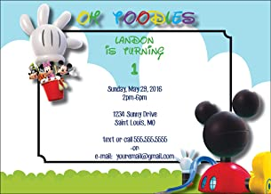 The Melange Market Customized - Mickey Mouse Birthday Party Invitation