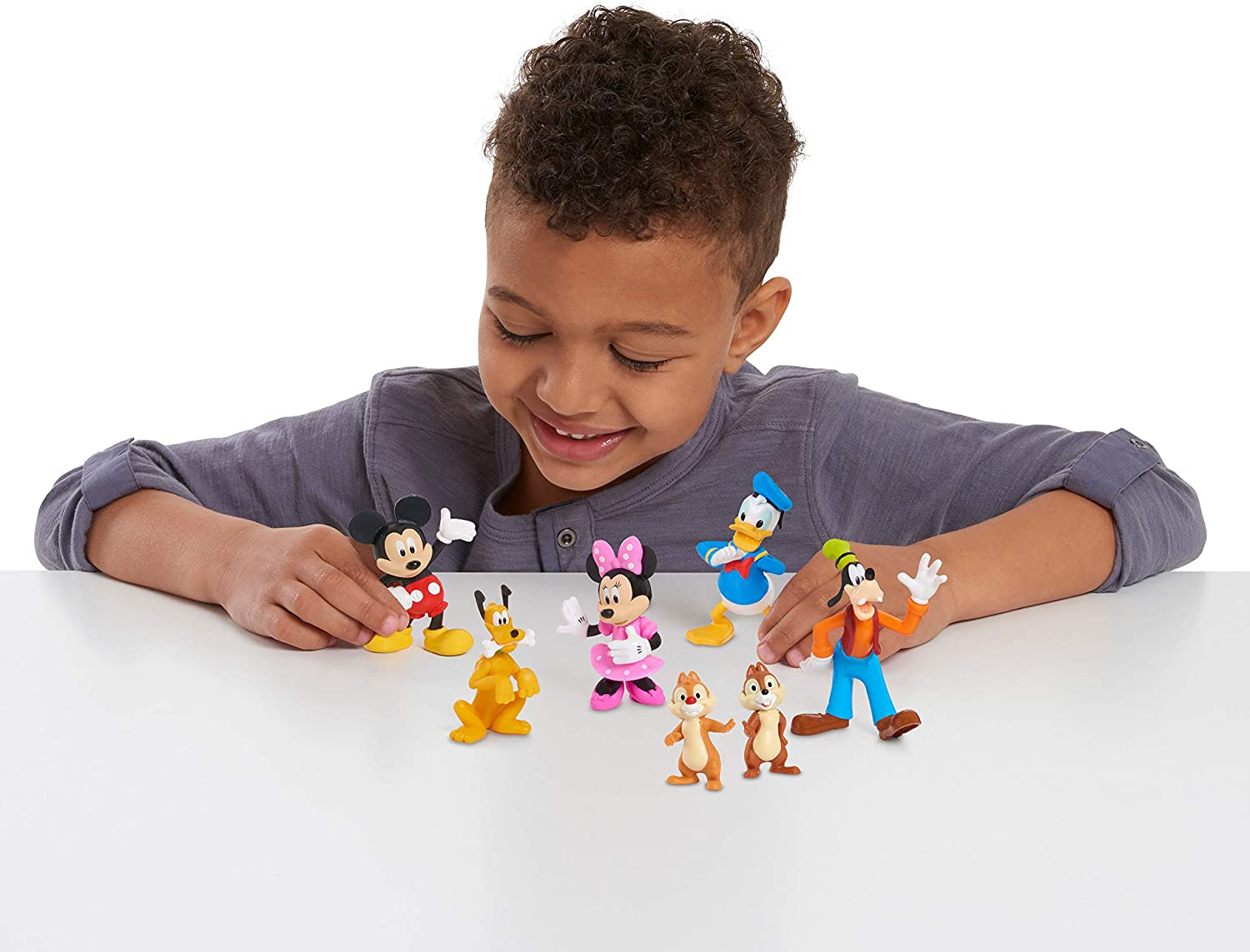 Mickey Mouse 7-Piece Figure Set, Toys for 3 Year Old Boys, Amazon Multi-color