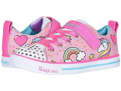 SKECHERS KIDS Twinkle Toes Sparkle Lite 10988L Lights (Little Kid/Big Kid) (Light Pink/Multi) Girl
