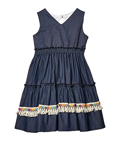 fiveloaves twofish Three Tier Dress (Little Kids/Big Kids) (Denim) Girl