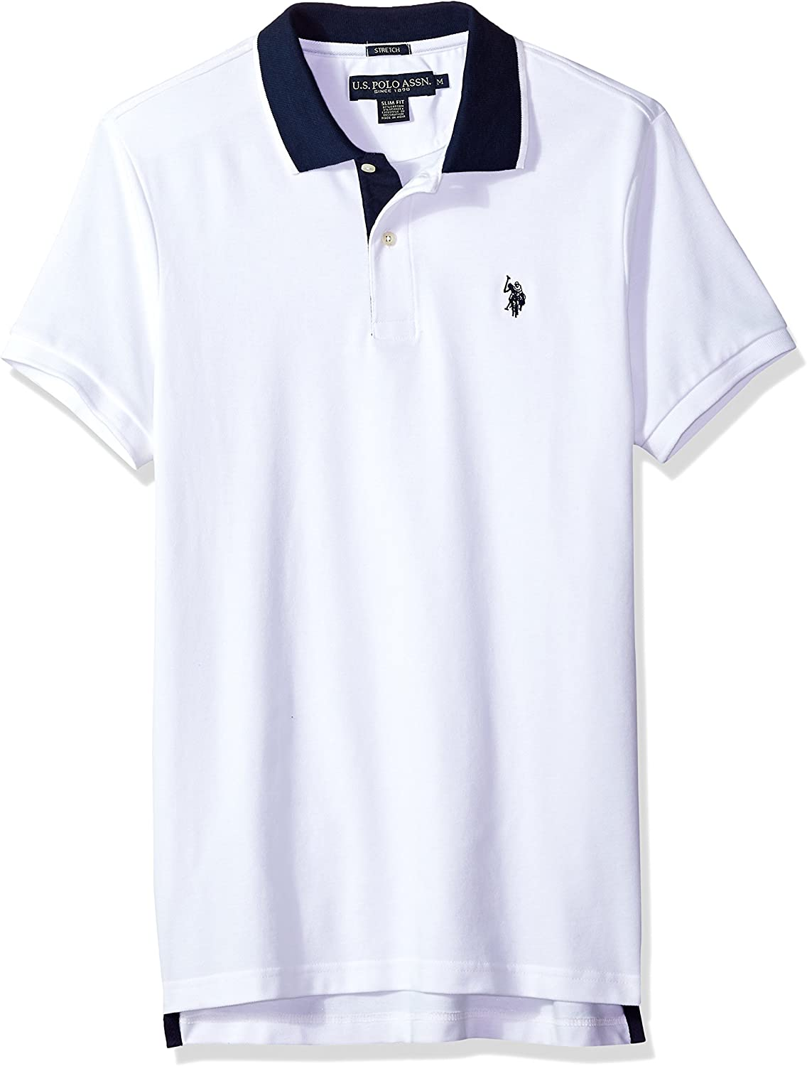 U.S. Polo Super popular specialty store Assn. Men's Short Sleeve Shi Solid High quality new Fit Pique Slim