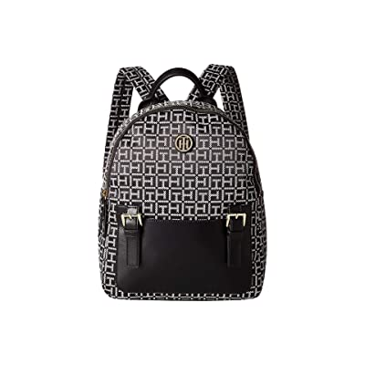 Tommy Hilfiger Imogen Backpack (Black/White) Backpack Bags