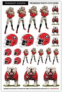 UGA Georgia Bulldogs Sticker Sheet - Small Kiss Cut Decals - Die Cut Premium Quality Vinyl - UGA X + Hairy Dawg + Football Helmet