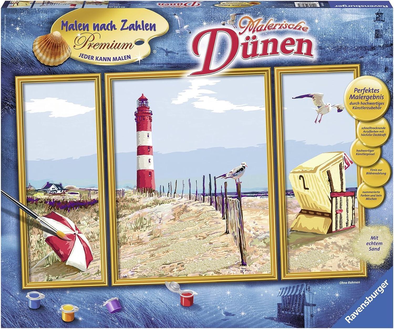 Ravensburger 28968 Malerische Dünen Nach Zahlen Premium Triptychon