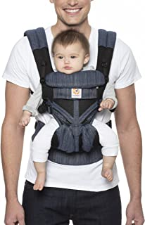 Ergobaby Omni 360 All-Position Baby Carrier for Newborn to Toddler with Lumbar Support & Cool Air Mesh (7-45 Lb), Classic ...