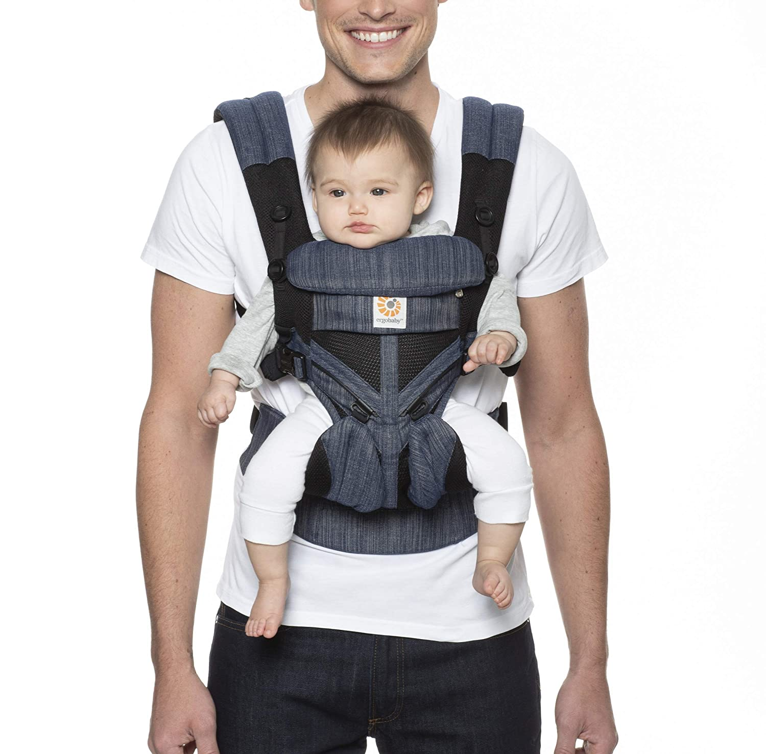 Ergobaby Omni 360 All-Position Baby Carrier for Newborn to Toddler with Lumbar Support & Cool Air Mesh (7-45 Lb), Classic Weave