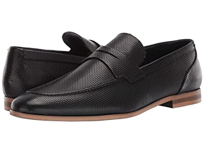 Steve Madden Decode Loafer (Black Leather) Men