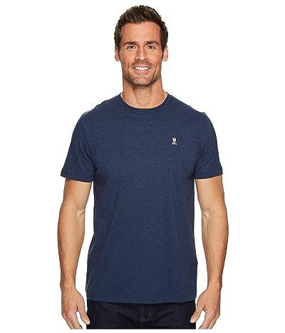 Psycho Bunny Crew Neck T-Shirt (Heather Navy) Men