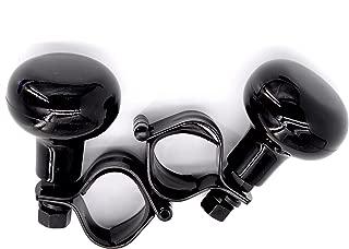 REBEL METTLE Power Handle [2 Pack] - Black - Car Steering Wheel Suicide Spinner Knob for All Vehicles [Car, Truck, Van, Forklift, Mower, Tractor, Farm/Heavy Equipment, etc.]- Easy Turn Steering Ball