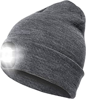 lighted knit hat