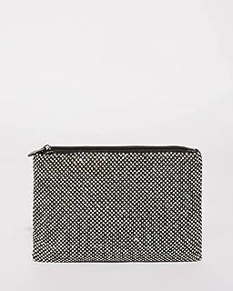 Black Chainmail Peta Crossbody Bag With Gunmetal Hardware