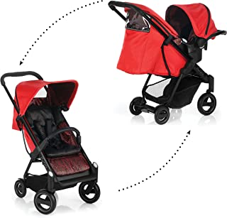 iCoo Acrobat Shop'N Drive, Travel System, 0M+ to 22 kg - Fishbone Red