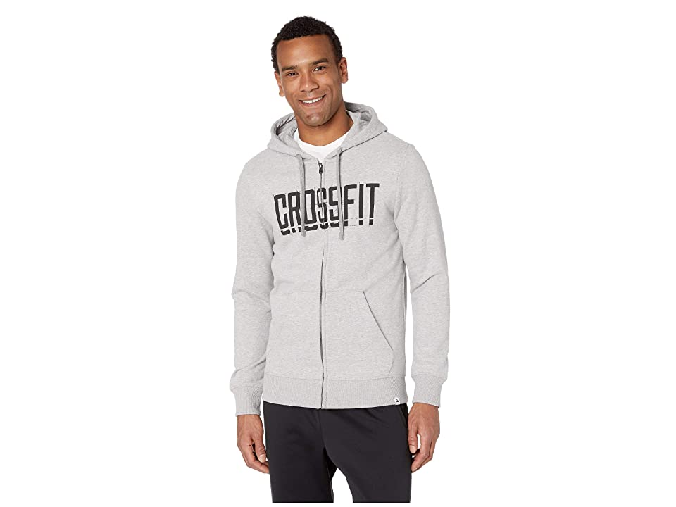 Reebok Crossfit(r) Zip Hoodie (Medium Grey Heather) Men