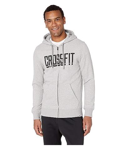 Reebok Crossfit(r) Zip Hoodie (Medium Grey Heather) Men