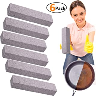 Pumice Stone Cleaning - 6 Pack Pumice Stone for Toilet Cleaning Powerhouse Pumice Sticks Stone Grill Cleaner for Removing Toilet Bowl Ring, Bath, Household, Kitchen, Pool
