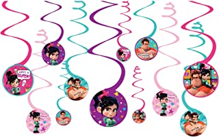 Wreck-It Ralph 'Ralph Breaks the Internet' Hanging Swirl Decorations (12pc)