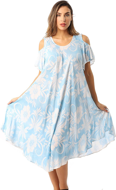 Riviera Sun Cold Shoulder Umbrella Dress