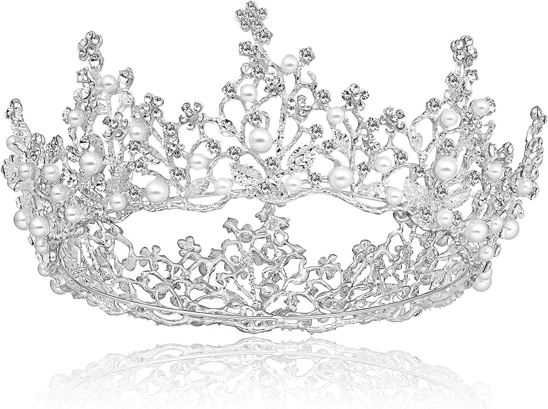 principessa donna cristallo corona di compleanno regina lusso lampeggiante corona diadema Corona da sposa Tiara per matrimonio rotonda accessori carnevale Coucoland