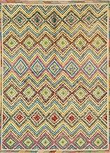 Jaipur Rugs Transitional Ivory 5X7 Feet Wool Tribal Rug and Carpet