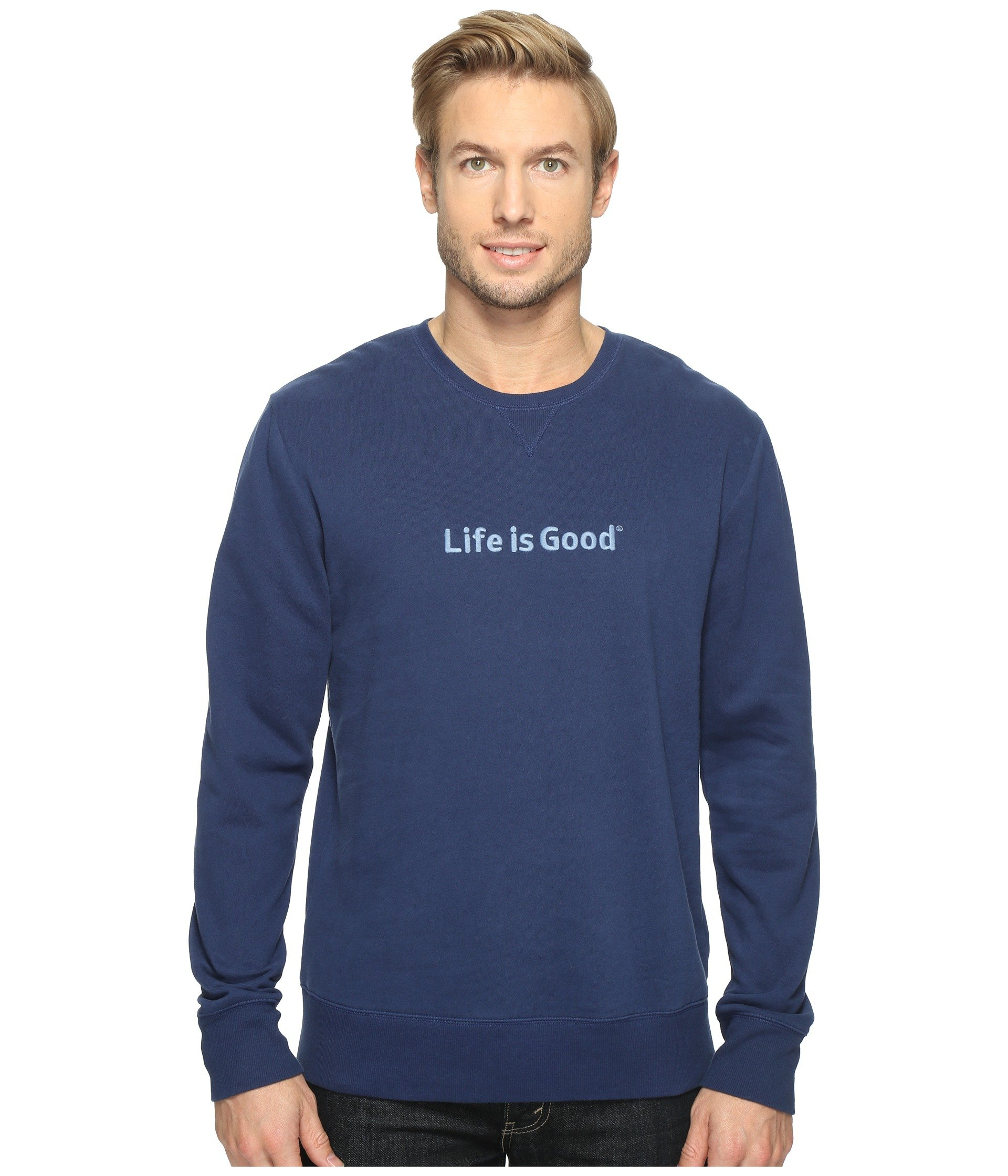 Buzo o Chaqueta Deportiva para Hombre Life is Good Life is Good® Go-To Crew Sweatshirt  + Life is Good en VeoyCompro.net