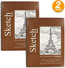 Charcoal Chalk Heavyweight Paper with Micro-Perforation 30 Sheets Each ARTEZA 18X24? Drawing Pad Spiral bound 60 Sheets 75 lb//120gsm Perfect for Graphite /& Colored Pencils Pack of 2 Gel Pen