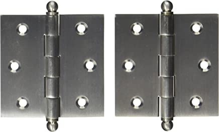 Deltana S44R515-BT Steel 4-Inch x 4-Inch x 5//8-Inch Radius Hinge with Ball Tips