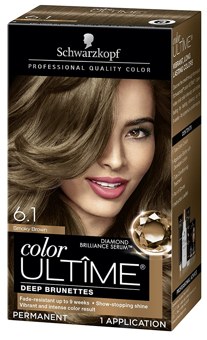 Schwarzkopf Color Ultime Hair Color Cream, 6.1 Smoky Brown (Packaging May Vary)