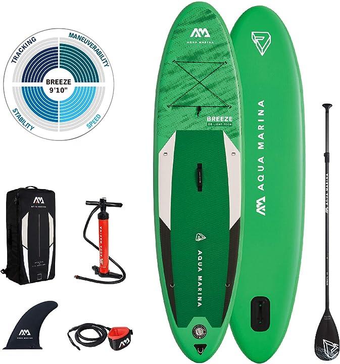 """Tavola paddle aquamarina tavole da sup gonfiabili breeze 9'10"""" unisex adulto tavola da serf 300 x 76 x 12 cm 05.501.00"""