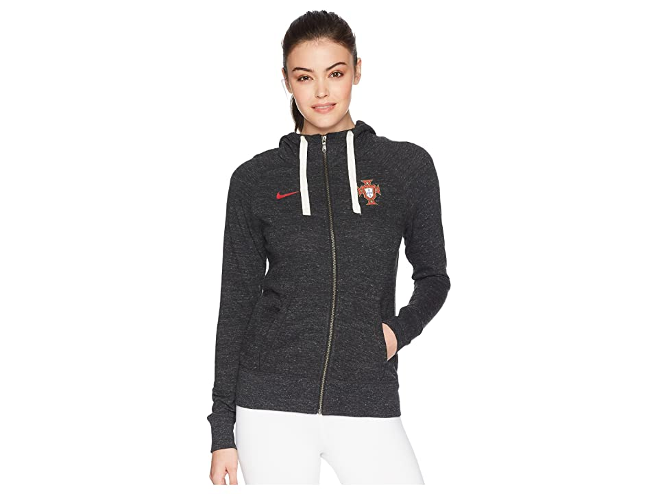 Nike Portugal NSW Gym Vintage Hoodie (Black/Sail/Gym Red) Women
