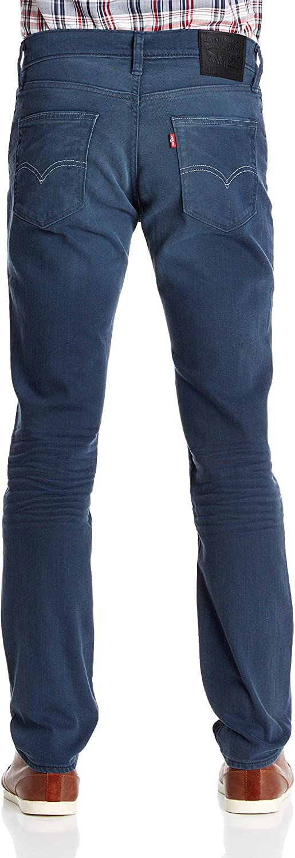 Levi's Herren 511 Slim Fit Jeans Dunkelblau Used