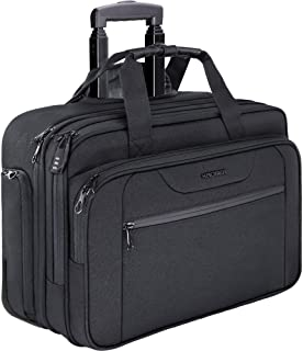 KROSER Rolling Laptop Bag Premium Wheeled Briefcase Fits Up to 17.3 Inch Laptop Water-Proof Overnight Roller Case Computer...