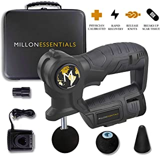 Professional Massage Gun for Athletes - #1 Deep Tissue Percussion Massager, Powerful Muscle Recovery Tool, Portable Handheld Therapy Device, Cordless Body Pain Relief Machine, 6 Speed Technology