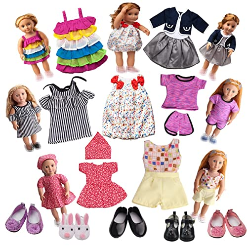 593ecf2b3c225 18 inch Doll Clothes for Our Generation- 7 Doll Clothes + 5 Doll Shoes -