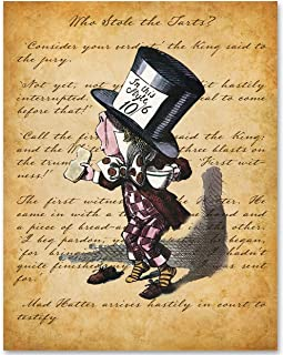 Mad Hatter Arrives Hastily in Court to Testify - 11x14 Unframed Alice in Wonderland Print - Great Gift for Lewis Carroll Fans and Nursery and Children's Room Decor Under $15