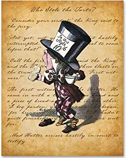 Alice in Wonderland - Mad Hatter Arrives Hastily in Court to Testify - 11x14 Unframed Alice in Wonderland Print - Makes a Great Gift Under $15 for Disney Fans or Girl's Room
