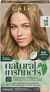 Clairol Natural Instincts Semi-Permanent Hair Color, 8 Medium Blonde, 1 Count