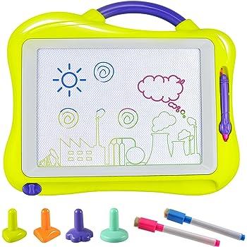 Ideale per Neonati Gioco per Sviluppo dellIntelligenza dei Bambini-Blu Lavagna Magnetica Colorata Bambino DUTISON Quadro Magnetico Cancellabile a 4 Colori di Grande Dimensione Versione Migliorata