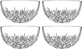 Godinger Bowl Set - Crystal Mini Prep Bowls, Dip, Dessert, Bar Snack Dish Bowls - 5oz, Set of 4