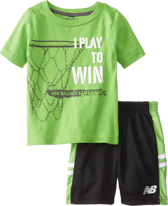 New Balance Baby Boys' T Shirt and Mesh Short Set