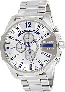 Men's Mega Chief Quartz Watch with Stainless-Steel Strap, Silver, 12 (Model: DZ4477)